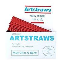 Amazing Arts and Crafts Artstraws MINI SCHOOL PACK RED PAPER STRAWS ART STRAWS 500 4mm