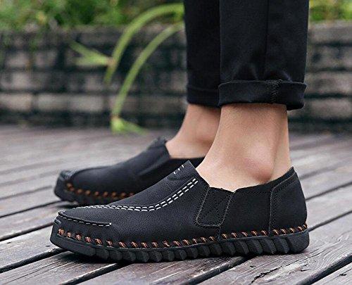GLTER Männer Frühling Neue britische wilde Freizeitschuhe Städtische Jugend Tägliche Leben Schuhe Sport Schuhe Bootsschuhe Black