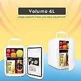 Unbekannt Tragbare 4L Auto Kühlschränke Kühlung Heizung Dual-Use Mini Kühlschrank Wirtschaftliche Gefrierschrank 12 V Kühler Box Camping Hause Kühlschrank