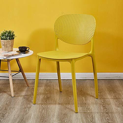 Chaise nordique dos tabouret en plastique à manger chaise adulte simple décontracté maison restaurant café chaise (Couleur : H)