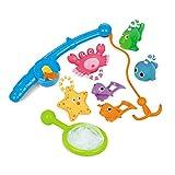 TOYMYTOY Juguetes de baño, pesca flotante arroja a chorros juguete Set arena juguete de pesca para bebé, 8pcs