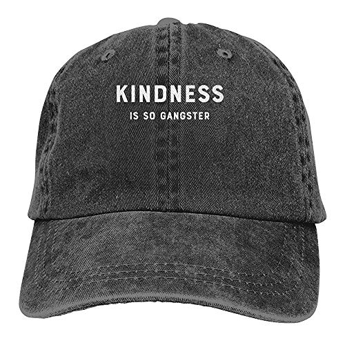 Kindness ist SO Gangster Washed Denim Hat einstellbar Unisex Dad Baseball Caps