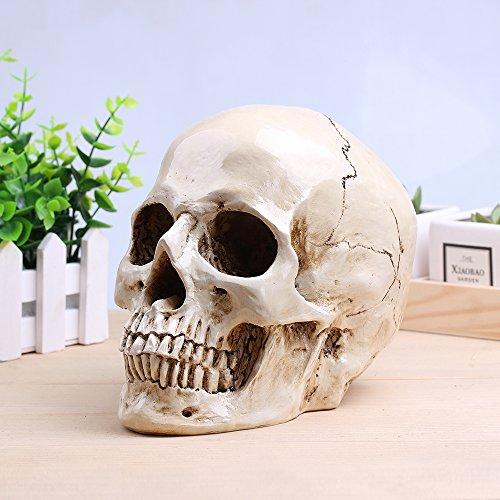 (Größe Scary Skull Totenkopf Skelett Graveyard Friedhof Halloween Dekoration Prop)
