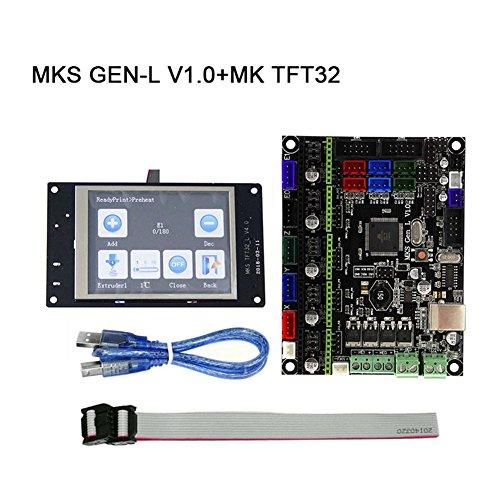 Majome Placa Principal MKS Gen-L V1.0 + MK TFT28/TFT32 Pantalla Fulltouch + Piezas de Impresora 3D Cable USB