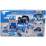 Planet of Toys SWAT Police Playset with Cars and Trucks