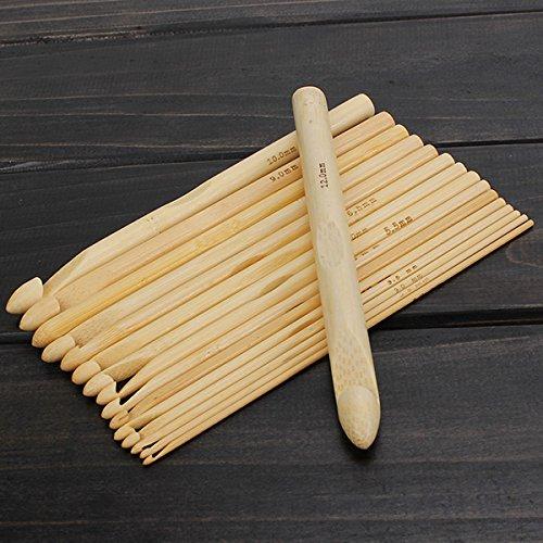 CHENXI Shop 16Bambus Schal Pullover Häkelnadeln Stricken Craft Tools