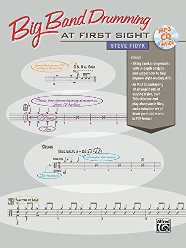 Big Band Drumming at First Sight: Book & CD