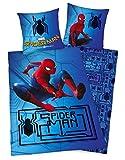 Herding Bettwäsche-Set Spiderman Homecoming, Baumwolle, Blau, 200 x 135 cm
