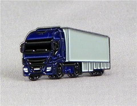 Metall Emaille Pin Badge Blau im Truck & Trailer (LKW)