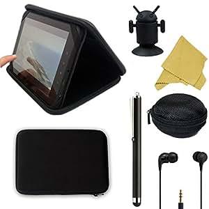 25,7cm dur qualité Noir Etui folio pour Hipstreet Pilot, Equinox 3& 4/Phoenix 4.3Android 4.2Jellybean Hip Street Tablette 25,7cm Tablette + accessoires
