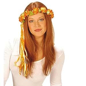 bandeau a fleurs hippie bijoux de cheveux orange accessoire de cheveux couronne de fleurs. Black Bedroom Furniture Sets. Home Design Ideas