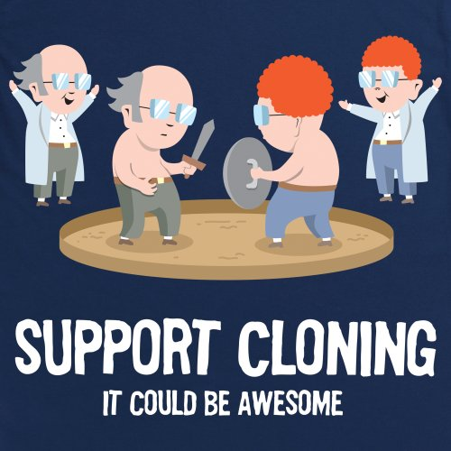 Support Cloning T-Shirt, Damen Dunkelblau