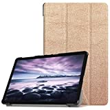 Igemy Hülle - Ultradünn Superleicht Schutzhülle mit PU Leder Abdeckung Cover Case mit Auto Schlaf/Wach Funktion für für Samsung Galaxy Tab A2 10,5 Zoll T595 (10.5'', Roségold)