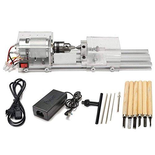 TTLIFE Mini Torno Perlas Máquina Pulidora CNC Mecanizado para la tabla de carpintería de madera DIY herramienta Torno