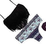 YAANCUN Donne Frangia Swimsuit Nappa Costumi Da Bagno Bikini Set Benda Push-Up Imbottito Costume Da Bagno L