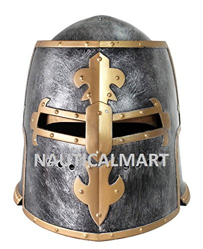 Armor Mittelalter LARP Renaissance Knight römischen Armor Crusader Helm Maske Mittelalter Erwachsene Kostüm (Renaissance Mittelalter Kostüme)