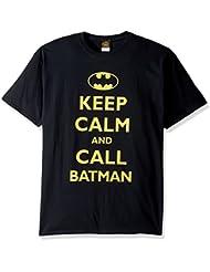 Batman Keep Calm Hombres Black Camiseta | L
