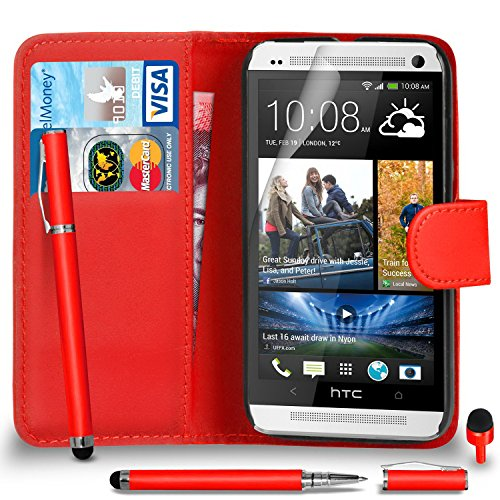 htc-one-m7-premium-leather-red-wallet-flip-case-cover-pouch-2-in-1-ball-pen-touch-stylus-pen-red-2-i