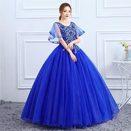 QAQBDBCKL Royal Blau/Lila Mantel Hülse Ballkleid Venedig Mittelalterlichen Kleid Renaissance Queen Kleid Viktorianischen Cosplay Ballkleid Belle (Kleid Lila Mittelalterliche)