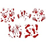 Best Accueil Coffres-forts - Beetest Autocollants Halloween, 10 Feuille Spooky Bloody Handprint Review