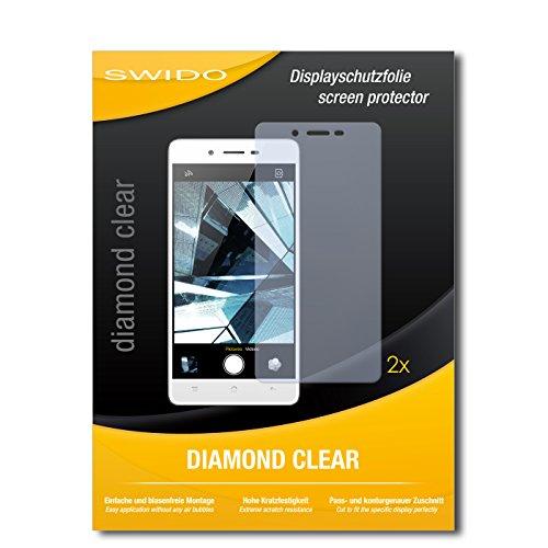 SWIDO 2 x Bildschirmschutzfolie Oppo Mirror 5 Schutzfolie Folie DiamondClear unsichtbar