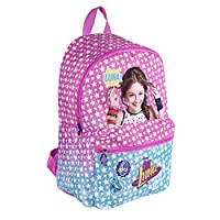 Soy Luna Backpack for Kids - Disney School Bag with Front Pocket - Small Rucksack for School and Kindergarten - Pink - 38x26x16 cm - Perletti