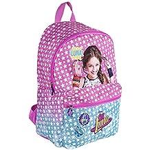 Mochila para niña de Disney Soy Luna - Bolso Escolar con Bolsillo Frontal con Estrella Blancas