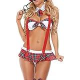 Scuola Ragazza Costume da Lingerie Babydoll Sexy Donna School Girl Uniform Costume Vestito da Lolita Cosplay Sexy Mini Top e