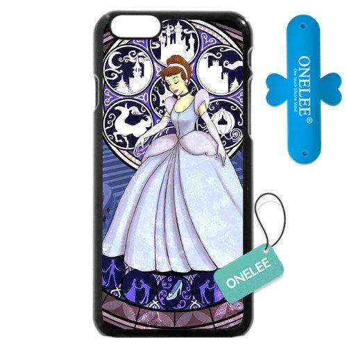 Conçu en plastique rigide Noir Disney Princesse Cendrillon iPhone 64.7Coque, uniquement compatible avec iPhone 611,9cm