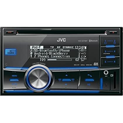 JVC KW-SD70BT Double Din Car Stereo with Built in Bluetooth SD Card Reader