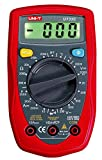 UNI-T - Multimetro digitale UT33C/MIE0044 AC/DC, tester di tensione, corrente DC, misurazione della resistenza e della temperatura, test dei passaggi e dei diodi
