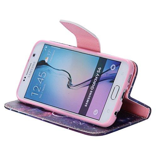 Ooboom® Samsung Galaxy S6 Coque PU Cuir Flip Housse Étui Cover Case Wallet Portefeuille Fonction Support avec Porte-cartes pour Samsung Galaxy S6 - Don't Touch My iPhone Beyond
