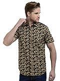 Sting Olive Green Slim Fit Camouflage Pr...