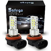 Safego H8 H9 H11 12SMD LED blanca DRL Bombilla Luz De Niebla 12V Driving Coche Luz De Antiniebla Lámpara Auto