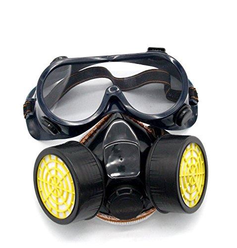 Latinaric 1pc Anti-Gas Staub Maske Arbeit Doppelkartuschen Respirator Filter Schutzmasken - Dual Cartridge Respirator
