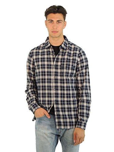 woolrich-camisa-casual-cuadrados-manga-larga-para-hombre-turquesa-s