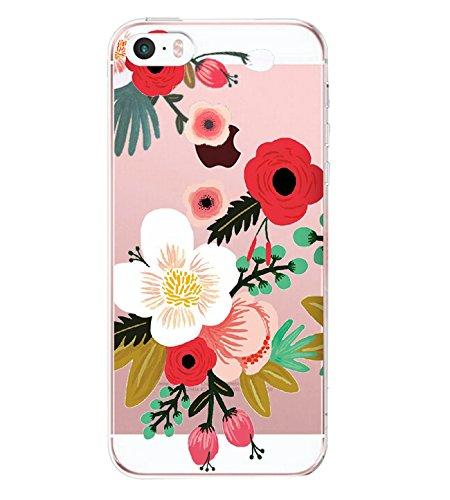 iPhone SE Hülle, Wouier® Mode Mädchen Schutzhülle Silikon Crystal Ultra Durchsichtige Backcover Soft TPU Bumper Backcover Case für iPhone SE/5/5S (Color 10, iPhone SE/5/5S)