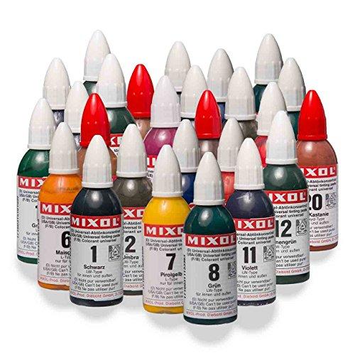 Mixol Komplettset 28x20ml, Universal Abtönkonzentrat, Pigment, Abtönfarbe, Abtönpaste