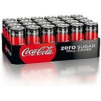 Coca-Cola Zero Sugar / Koffeinhaltiges Erfrischungsgetränk in stylischen Dosen mit originalem Coca-Cola Geschmack - null Zucker und ohne Kalorien / 24 x 330 ml Dose