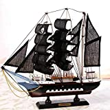 Guvd Tall Ship Barca a Vela Modello Craft Decoration Legno Nautical Corsair Ornamento da Tavolo Maritime Toy Crafts