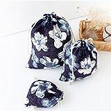 3Pcs Floral Drawstring Sack Dress Underw...