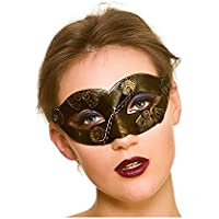 Adult Ladies Steampunk Eye Mask Gold/Bronze Fancy Dress Accessory