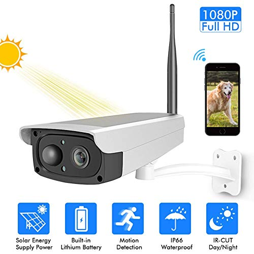 Z-Camera@ 1080P Überwachungskamera Sonnenkollektor Wi-Fi Haussicherheit Wetterfeste Kamera, Infrarot Nachtsicht,Bewegungserkennung,2-Way Audio,Model: FT31 Super Ir-wetterfeste Kamera