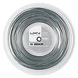 Luxilon WRZ990090 Corda da Tennis Adrenaline 130, Bobina 200 m, Unisex, Grigio, 1.30 mm