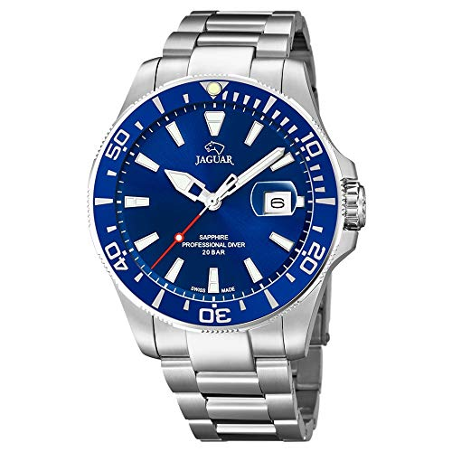 Jaguar Acamar watch J860/3 200 m submersible blue dial and bezel