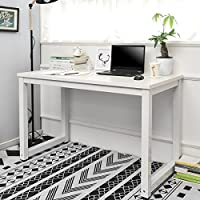 LIFE CARVER Modern Simple Design Computer Desk Table Workstation for Small Space Place Home Office Writing Table