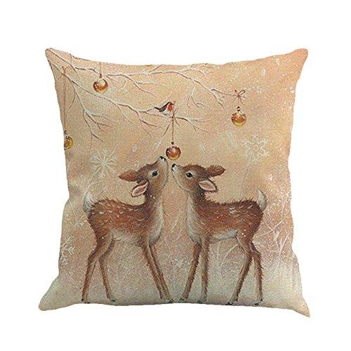 HUYURI Wohnkultur Weihnachten schneemann Druck Färben Sofa Home Decor Kissenbezug Kissenbezug 18