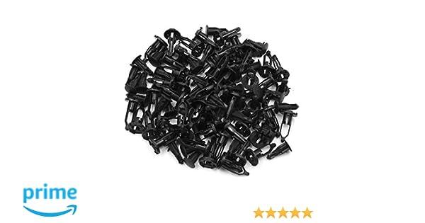 Confezione da 50 Pezzi AutohAUX Foro da 9 mm Rivetti in plastica per paraurti Auto