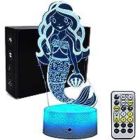 Xycheri - Luces de Noche para niños, diseño de Sirena, 7 Colores cambiantes de