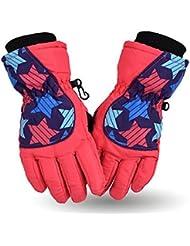 Longless Guantes de esquí engrosamiento plus antideslizante impermeable cashmere ciclismo guantes cálidos